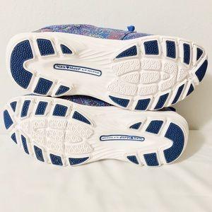 Nurse Mates Shoes - Leather Slip Resistant Velocity Blue Multi Sneaker